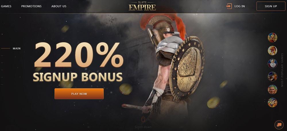Empire Online Casino Bonus Code